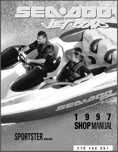 1997 sea doo sportster jet boat service repair shop manual cd rh ebay ie 1997 Seadoo Challenger Problems 1997 sea doo challenger 1800 manual pdf