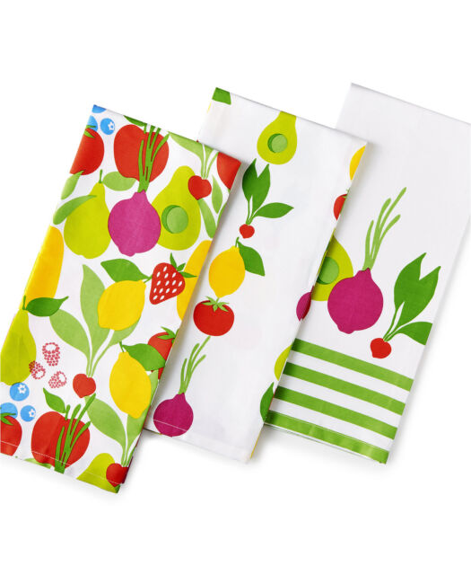 "Martha Stewart Kitchen Towels: Martha Stewart ""Fresh Flavors"" Kitchen Towels, Set Of 3"