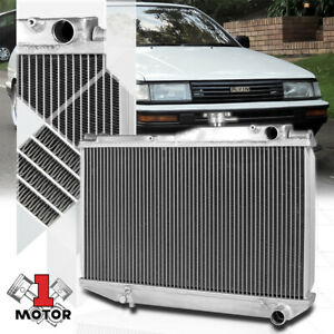 Details about Aluminum 2 Row Core Performance Radiator for 84-87 Toyota  Corolla AE86 4AGE 1 6