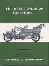 Rolls-Royce 1905 3 cylinder Profile Publication No. 49 12 page colour booklet