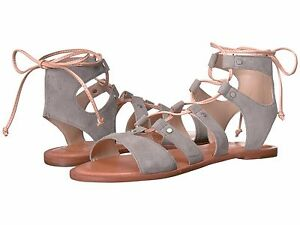 new design later utterly stylish Details about Women's Shoes Dolce Vita Jasmyn Lace Up Suede Gladiator  Sandal Grey *New*