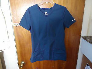 Womens-Girls-Landau-Work-Flow-Size-SML-Blue-Scrubs-Top-034-BEAUTIFUL-TOP-034