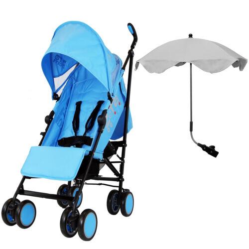 Zeta Citi Light Weight Stroller With Triple Adjustable Sun Parasol Ocean//Grey