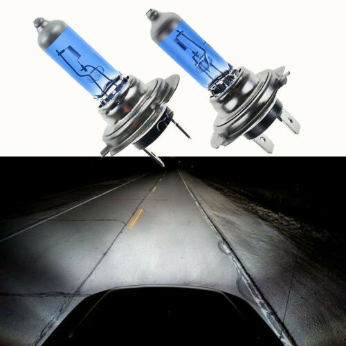 Bright White Light Lamp Bulbs H7 55W 12V 6000K Xenon Gas Halogen Headlight 2pcs