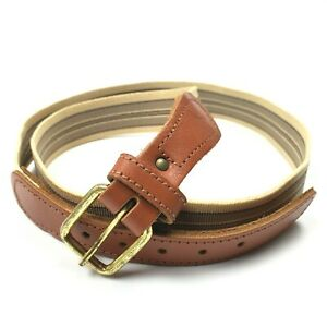 Details about Women's Striped Fabric Leather Stretch Belt Size Small Medium
