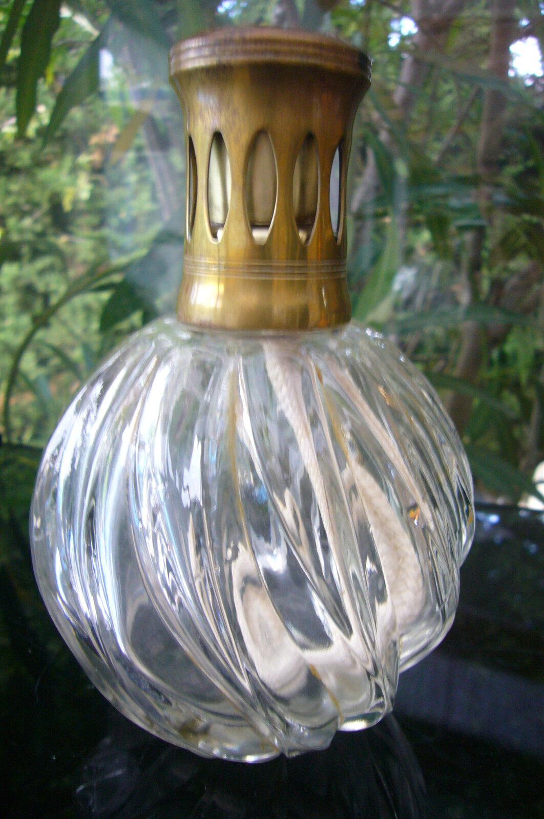 ANTIQUE LAMPE BERGER CRYSTAL PARIS MADE IN FRANCE   BN TORSADE Gold CAPE  1970
