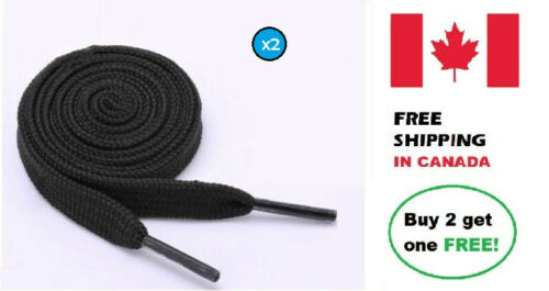Black shoelacesPairWideFlat8mmShoe string120cmPolyester