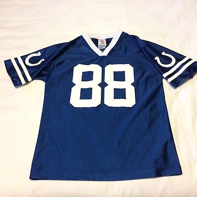 more photos 6881a c3e33 Marvin Harrison Jersey Indianapolis Colts Youth Size L Blue NFL Players EUC  | eBay