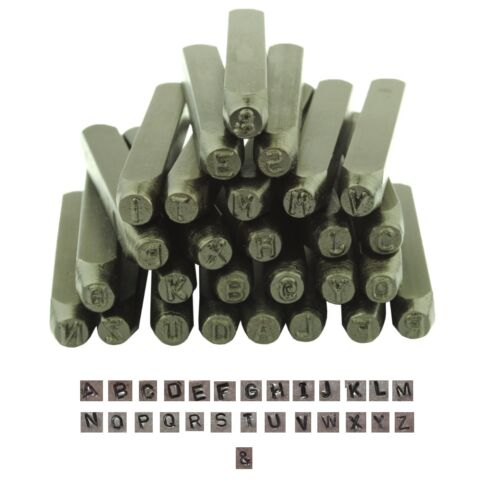 Proops 27 Piece 4.5mm Metalwork Stamp CAPITAL Letter Stamps Punches M9036