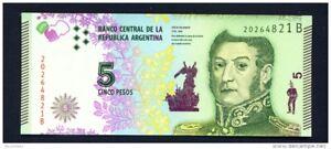 ARGENTINA-2015-5-Pesos-UNC-Banknote