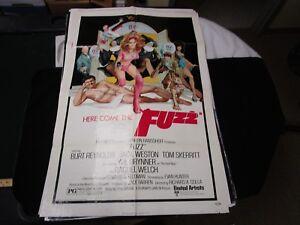 Un foglio MOVIE POSTER Fuzz 1972 Burt Reynolds RAQUEL WELCH JACK WESTON