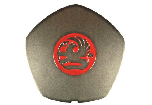Genuine VAUXHALL NOVA MOZZO COPERCHIO ROSSO Griffin Emblema-part number 90445787