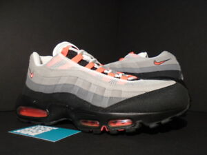 0e2f2344cc 2011 NIKE AIR MAX 95 WHITE SOLAR RED COOL GREY BLACK PINK 609048-106 ...