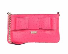Kate Spade Presley- Charm City Ostrich Embossed Leather, in Desert Rose