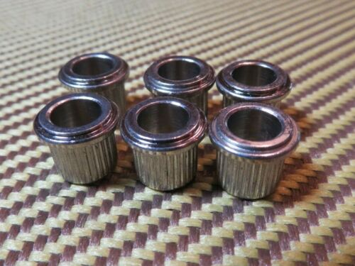 "8.8 mm outside diam .25/"" inside MBG65N Gibson 6 Kluson tuner BUSHINGS Nickel"
