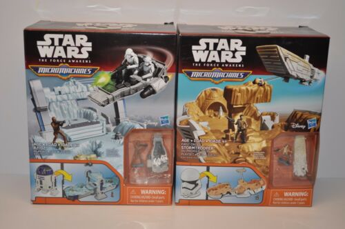 2 NEW STAR WARS The Force Awakens Micro Machines STORMTROOPER AND R2-D2 PLAYSET