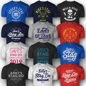 Details About Personalised Stag Do T Shirts Custom Printed Add Optional Back Name Number