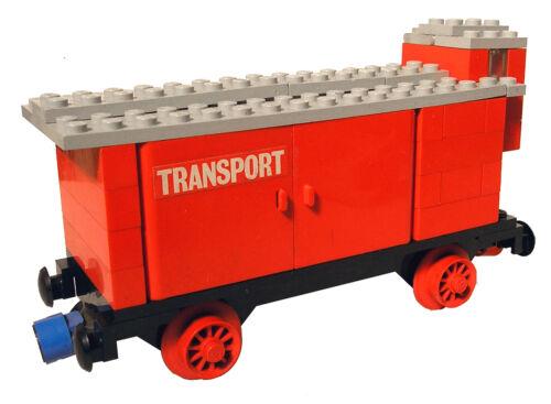 Lego® Eisenbahn 12V roter Frachtwaggon aus 725 Waggon Trains 4,5V Aufkleber