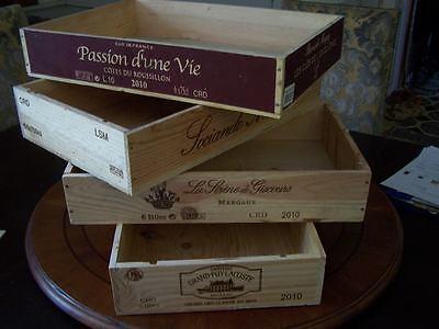 Fashion Style Francese 6 Bottiglia Piatta In Legno Vino Crate Box-pranzo Cena Colazione Vassoio Titolare-mostra Il Titolo Originale