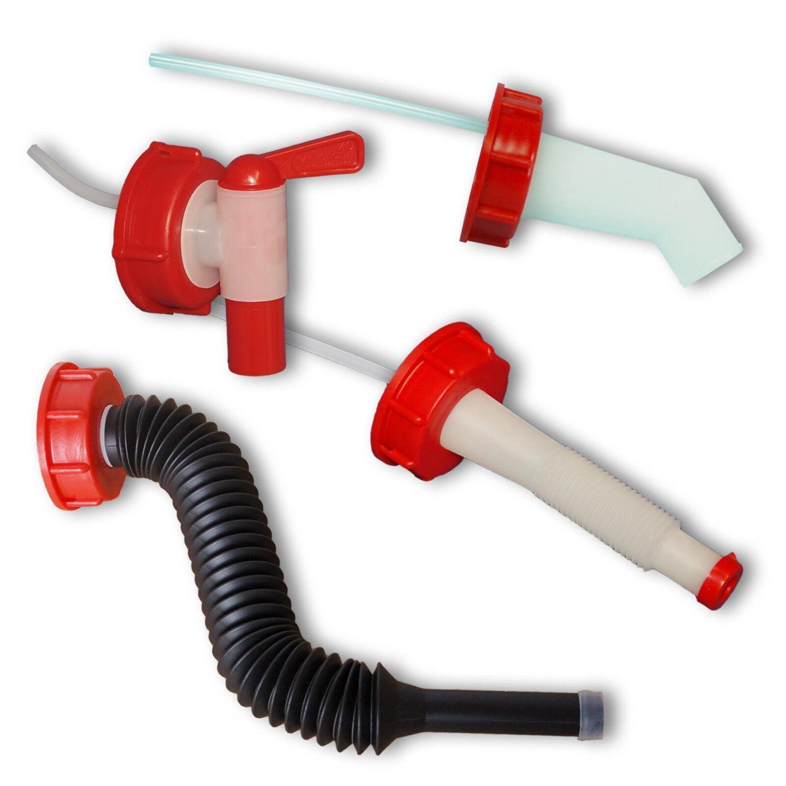 Accessoires bidons, jerricans, robinets, becs verseur, bouchons, DIN 45/51/61/71