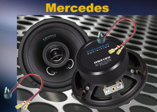 Crunch altavoces especial para Mercedes Benz w124 delante