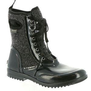 9ca2b22db55f Image is loading BOGS-Waterproof-Neoprene-Sidney-Wool-Womens-15-Lace-