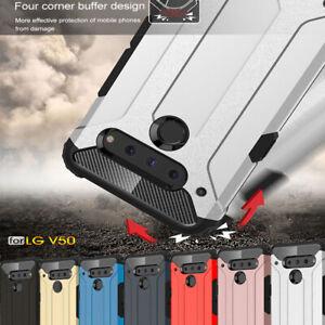 For LG V50 G8 ThinQ V40 G7 Luxury Shockproof Hybrid Rugged Armor Slim Case Cover
