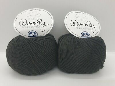 100g 2 x 50g Balls Shade 110 DMC Woolly Merino 100/% Wool DK Beige