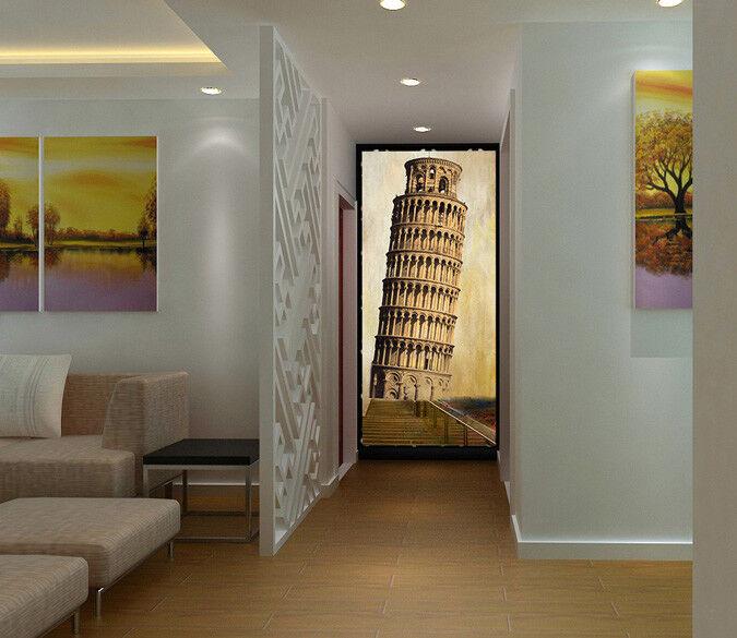 3D Pisa Tower 73 Wallpaper Mural Paper Wall Print Wallpaper Murals UK Lemon
