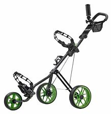 CaddyTek SuperLite Deluxe Golf Push Cart, Lime