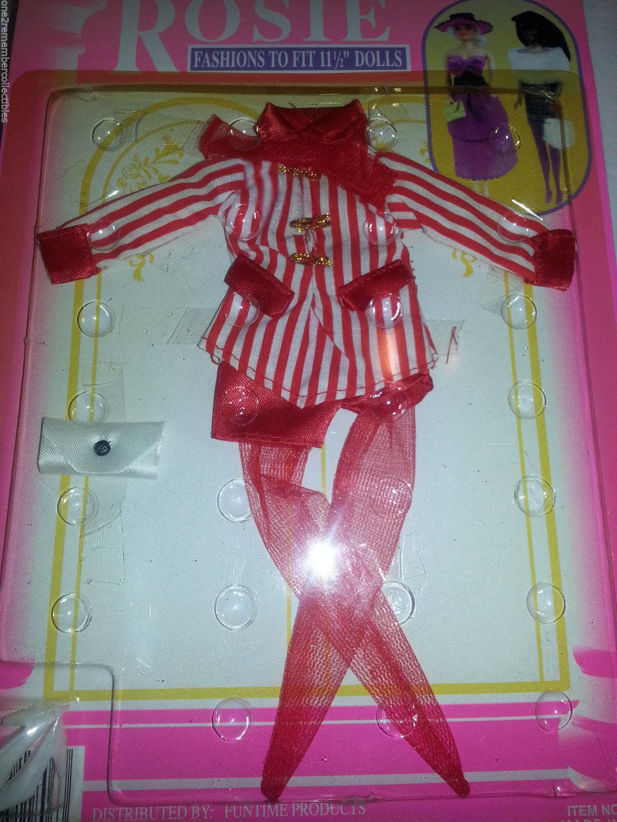 Barbie Rosie Rot Shorts Outfit Kleidung Tasche Schuhe Vintage 11 1.3cm Puppen