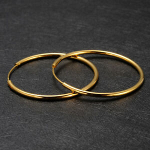 Image Is Loading Women 039 S 24k Solid Gold Gf Round