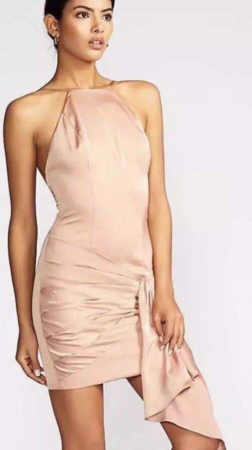 NEW Free People X Fame And Partners Sunnset Mini Dress Size 4 bluesh Pink