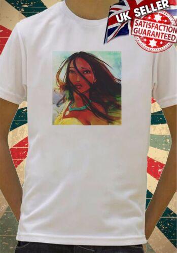 Belle Disney Pocahontas Sketch Garçons Filles cadeau d/'anniversaire top t shirt 78