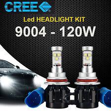 2x 120W 9004 CREE LED Headlight Kit Hi/Lo 6000K White Beam Car 12000LM Bulbs HB1