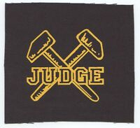 Judge Hammers Logo Cloth Patch Free Shipping Sew On, Bringin' It Down Sxe