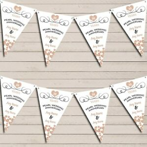 Hearts-Party-Decoration-Pearl-30th-Wedding-Anniversary-Bunting-Party-Banner