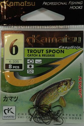 KAMATSU TROUT SPOON K-335 Schonkaken 8 Stück Größe 6