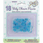 Crystal Blue Mini Dummies Pacifiers 18 PK Baby Shower Party Charms