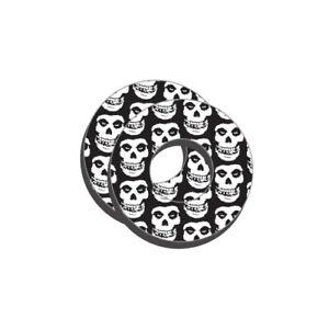 Black Handle Bar Motorcycle Donuts Skull Design