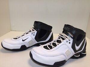 Nike-Elite-Shox-Basketball-Shoes-White-Black-Hi-Top-Men-s-Size-8-5