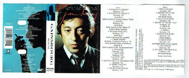 Serge GAINSBOURG K7 audiocassette INITIALS B.B. Vol. 4 1966 1968 PHILIPS 838390