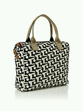 great Orla Kiely  Zip Messenger Bag Black bunny print superb with tags