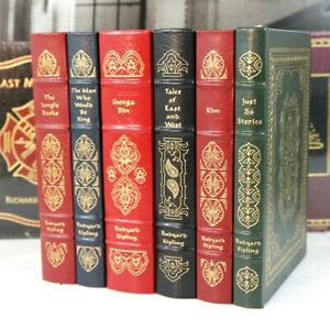RUDYARD-KIPLING-SPECIAL-CURATED-SET-Easton-Press-jungle-books-gunga-din