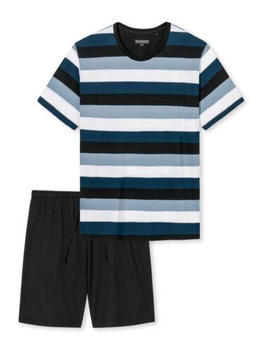 SCHIESSER Nachtwäsche kurze Schlafanzüge für Herren aus Jersey Baumwolle