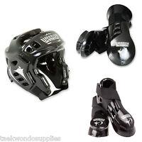 Macho Warrior Black Sparring Gear Set Any Size Black Warrior 5 Pc Set