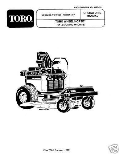 Wheel Horse 724-Z MOWING MACHINE Operators Manual