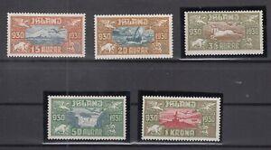 BB5663-ICELAND-AIRMAIL-MI-142-146-COMPLETE-MINT-MH-CV-475