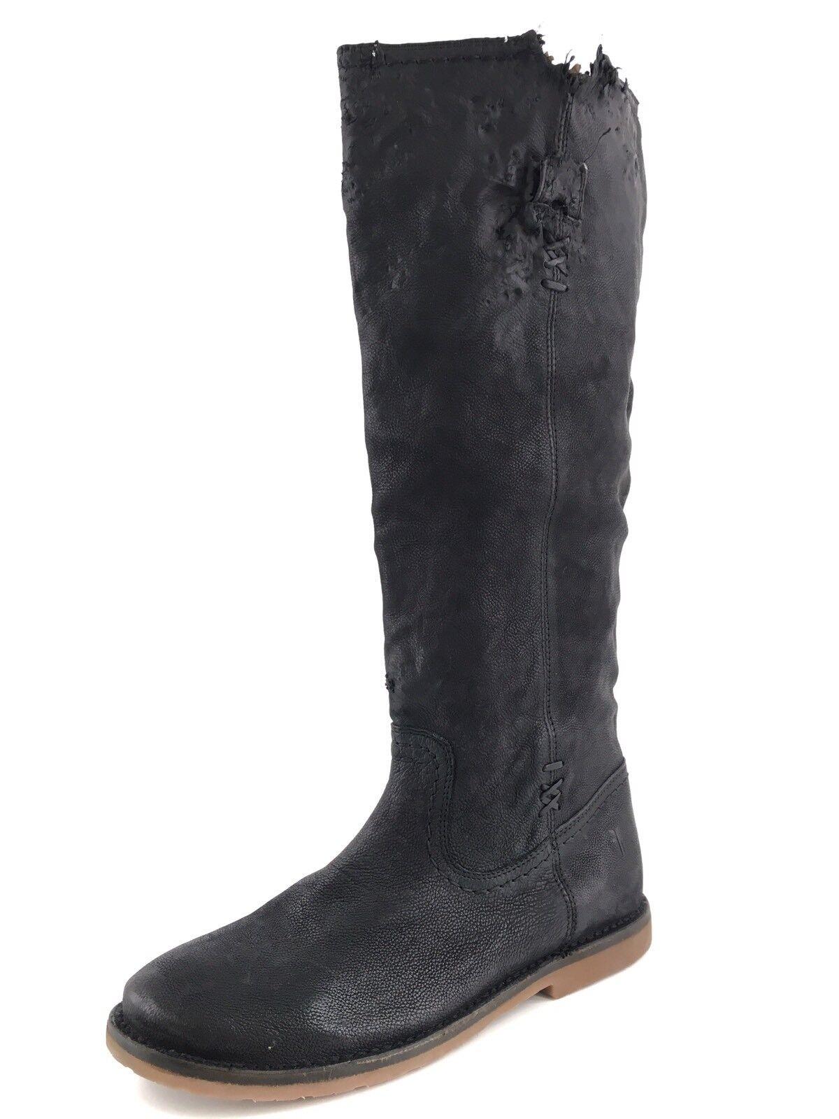 risposta prima volta Frye Celia X Stitch Knee Knee Knee High nero Leather Riding stivali Donna  Dimensione 7.5 M   per il tuo stile di gioco ai prezzi più bassi
