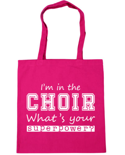 Tote Shopping Gym Beach Bag 42cm x38cm I/'m In The Choir What/'s Your Superpower